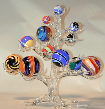 Glass Marble Tree