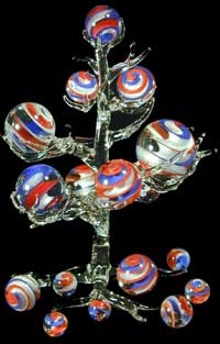 Fourth of July Marble Tree